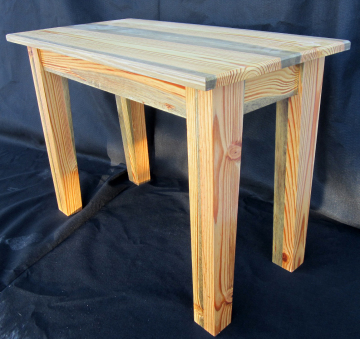 blue-stained pine end table